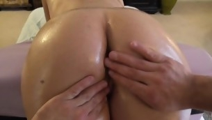 Darling is getting her tight beaver fucked from behind
