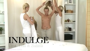 Sizzling sexy lesbian massage with Uma, Zuzana and Lola