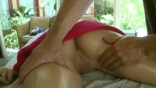 Breasty hottie gets lusty fingering and hardcore drilling