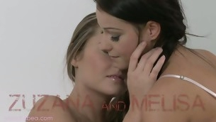 Melisa and Zuzana are having salacious bed pleasuring