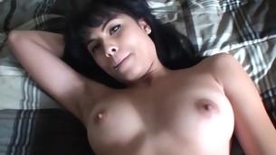 Away from her old folks college slut enjoys hard ramrods